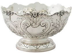Antique Victorian Sterling Silver Presentation Bowl By Charles Stuart Harris