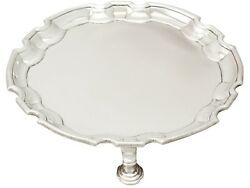 Antique George Ii Sterling Silver Waiter