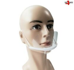 Mouth Shield Visor Protection Mouth Mask Shield Transparent Clear Plastic Uk
