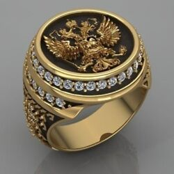 Vintage Punk Eagle Ring Fashion Menand039s Angel Wings Diamond Ring 18k Gold Rings Fo