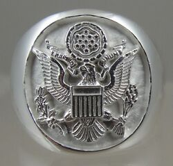 Us Army Mens .925 Sterling Silver Ring Jewelry Solid Size 10