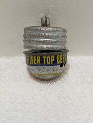 Very Rare Vintage Vtg Silver Top Ale Beer Promo Item Spinning Top Toy Working