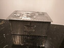 Steel Industrial Jewlery / Table Box - Not Signed