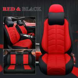 Luxury Car Seat Covers Full Set Pu Leather Frontandrear 5-seats Auto Suv Truck