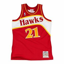 Mens Mitchell And Ness Nba Authentic Jersey 1986 Atlanta Hawks Dominique Wilkins