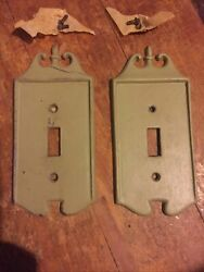 Vintage Nostalgic Single Metal Light Switch Plate Collectable 1970's Very Nice