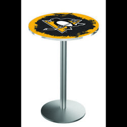 Holland Bar Stool Co. L214s3636pitpen 36 Stainless Steel Pittsburgh Penguins