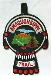 Vtg Boy Scouts Bsa Amaquonsippi Trail Patch Camp Lowden Bradford Illinois Nos A