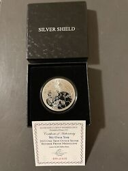 2015 1oz .999 Silver Shield We Own You Members Only Rev Proof Medallion W/coa