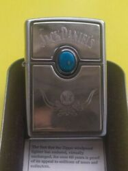 Zippo Lighter Jack Daniels Turquoise Stone Brand New From Old Stock