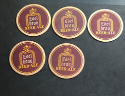 5 Piece Lot- 1940s New York City Edel Brau Beer And Ale 4¼ Tavern Trove