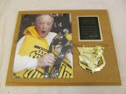 Double-yoi Rare This Is Myron Cope On Sports Terrible Towel Plaque