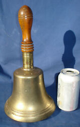Vintage Antique Historic Mears And Company London School Bell Large Brass Bell