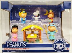 Peanuts Nativity Figures Deluxe Play Set Snoopy Charlie Lucy Sally Patty 2020