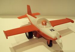 Vintage-very-rare-bulgarian-plastic-authentic-mechanical-airplane-toy-147