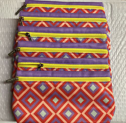Lot 6 CLINIQUE Designer Cosmetic Makeup Bag Zipped Pouch Size 8x4x1 Brand New $9.99
