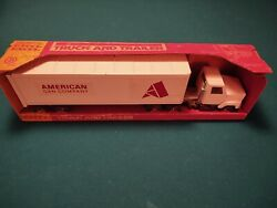 Vintage Ertl Truck And Trailer. American Can Co. Chicago Historic Landmark 1/1