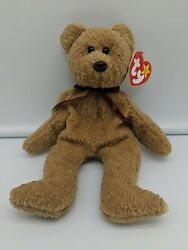 Ty Beanie Babies Curly The Bear Plush With Errors Brown Nose Free Shipping