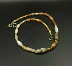 Old Antique Ancient Bactrian Banded Agate From Ancient Greco-bactrian Circa 256