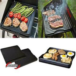Seasoned Cast Iron Cookware Grill Griddle Reversible Home Kitchenware 14x16