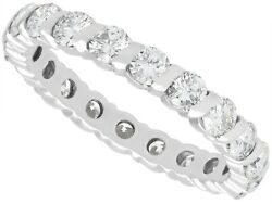 1.88ct Diamond And 18ct White Gold Full Eternity Ring - Vintage French Size M