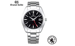 Grand Seiko Gmt Analog Watch Menand039s 40mm Quartz Date Black Silver Made In Japan