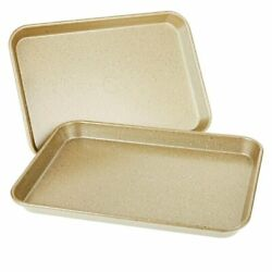 Set Of 2 Curtis Stone Bakeware Sheet Pans 17 Andtimes 12 Dura-bake Easy To Clean