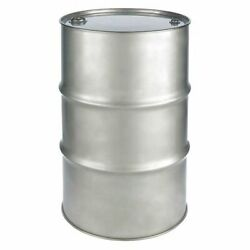Zoro Select St5504 Closed Head Transport Drum, 304 Stainless Steel, 55 Gal,