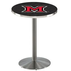 Holland Bar Stool Co. L214s4228mia-oh 42 Stainless Steel Miami Oh Pub Table