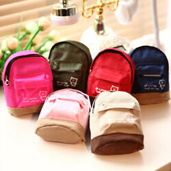 Mini Small Cute Womens Lady Girl Pouch Coins Purse Backpack Canvas Bags WalOYZF $3.06