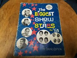 Biggest Show Of Stars '61 Spring Concert Program Fats Domino Chubby Checker Auto