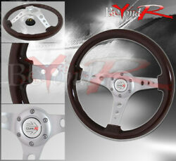 Tracking Drifting Road Tuning Sport Steering Wheel Race Type Horn Badge 6 Hole