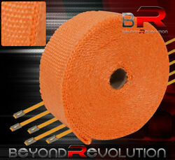 360 30ft Heat Reduction Wrap Shield Cover Catback Exhaust Intake Piping Orange