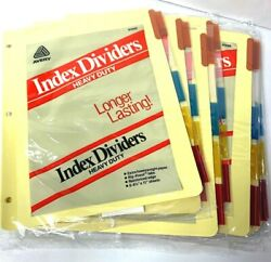 Lot Of 9 Pkgs - Avery Heavy Duty Yellow Blank Inserts 3 Hole Index Dividers
