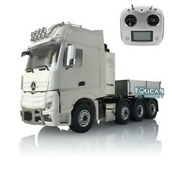 1/14 Lesu Metal Chassis Truck Hopper Light Sound Radio Rc Hercules Actros Cabin