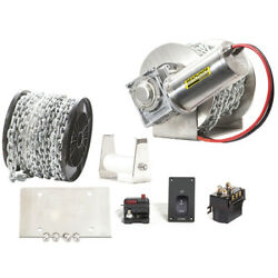 Seachoice 53707 Ss Drum Winch Kit 1500 Series, 75a, 700w, For Boats Up To 26 Ft.