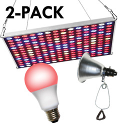 Miracle Led 602235 Led Grow Panel And Clamp On Led Red Spectrum Grow Light Kit 6
