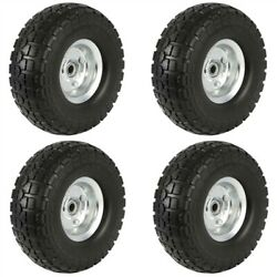 4/8/12/16pcs 10andrsquoandrsquo Solid Rubber Sack Truck Cart Wheel Tyre Trolley Spare Tyres
