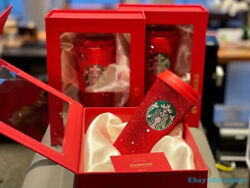 Starbucks 2020 Red Recollection Global Limited Cup Diamond Particles Artware New