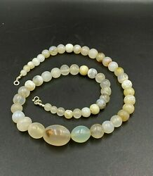 Old Ancient Antique Himalayan Indo Tibetan Solumani Banded Agate Beads Lot Mala