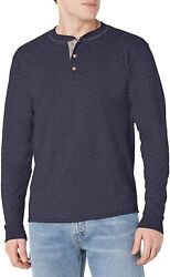 Hanes Menand039s Long Sleeve Beefy Henley Shirt