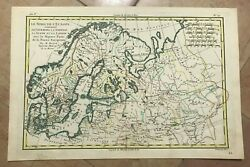 Northern Europe Russia 1780 Rigobert Bonne Antique Map In Colors 18th Century