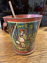 Rare Made In Germany Sand Pail Vintage Used Condition