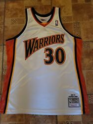 Nba Mitchell And Ness Steph Curry Adult Xl 48 2009-2010 Warriors Jersey 30