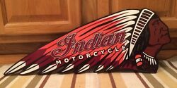 Indian Motorcycle Embossed Metal Chief Scout Chopper Harley Davidson Man Cave