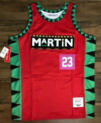 Martin 90s Tv Show Martin Lawrence Authentic Basketball Jersey By Headgear New