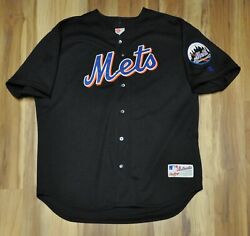 New York Mets Alt Jersey Spell Out Blank Rawlings Cursive Men Authentic Sewn 52