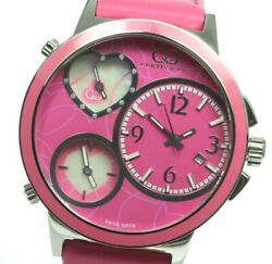 Curtisandnbspand Co. Big Time Love 3 Time Zones Pink Dial Quartz Ladies Watch_591641