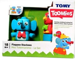 1 Tomy Toomies Flappee Stackees Stacking Building Mixing Moves 18 Months And Up
