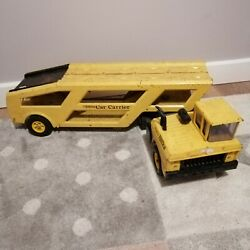 Mighty Tonka Car Carrier - Vintage 1960s Toy Truck - Made In Canada - Rare